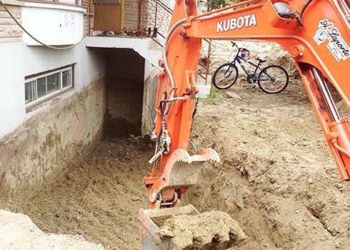 Mini-excavation